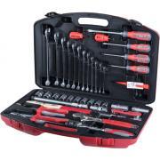 CONNEX Profi Werkzeugkoffer 41-teilig Kunststoff-Koffer, Steckschüsseleinsätze aus Chrom-Vanadium-Stahl