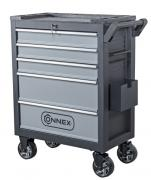 Connex Werkstattwagen, Werkzeugwagen bis zu 300 kg belastbar, 5 Schubladen