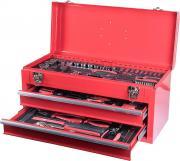 CONNEX Werkzeugkoffer 85-teilig Stahlblech-Koffer mit 2 herausziehbaren Schubladen