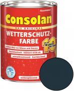 Consolan Wetterschutz-Farbe Anthrazitgrau 2,5 L RAL 7016