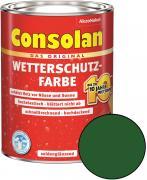 Consolan Wetterschutz-Farbe Grün 10,0 L