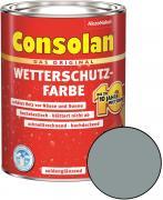 Consolan Wetterschutz-Farbe Silbergrau 2,5 L