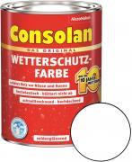 Consolan Wetterschutz-Farbe Weiß 10,0 L