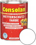 Consolan Wetterschutz-Farbe Weiß 5,0 L