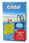 Cristal 4 x 150g Chlor Monats-Set bis 10 m³ Poolreinigung Wasserpflege