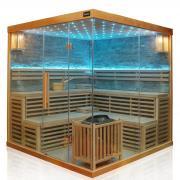 Dewello Infrarotkabine Finnische Sauna SARNIA PLUS 2 200cm x 200cm