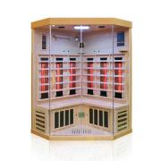Dewello Infrarotkabine Sauna BRANDON 120cm x 120cm