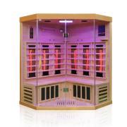 Dewello Infrarotkabine Sauna BRANDON 140cm x 140cm