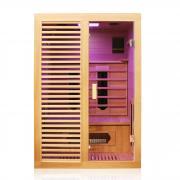 Dewello Infrarotkabine Sauna HAMLIN Keramikstrahler 130cm x 105cm