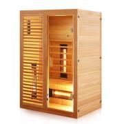 Dewello Infrarotkabine Sauna HAMLIN Vollspektrum 130cm x 105cm