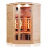 Dewello Infrarotkabine Infrarotsauna Wärmekabine 3 Personen Sauna Vollspektrum Lakefield 140cm x 140cm