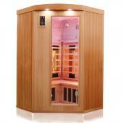 Dewello Infrarotkabine Sauna LAKEFIELD 2 120cm x 120cm