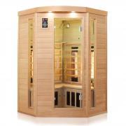 Dewello Infrarotkabine Infrarotsauna Wärmekabine Sauna Saunakabine 2 Person Vollspektrum LAKEFIELD 3 120cm x 120cm