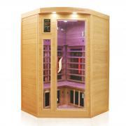 Dewello Infrarotkabine Sauna LAKEFIELD PRO (Hemlock/ Zeder) 120cm x 120cm