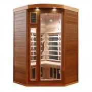 Dewello Infrarotkabine Sauna LAKEFIELD PRO Zeder 120cm x 120cm