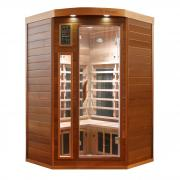 Dewello Infrarotkabine Sauna LAKEFIELD PRO Zeder 140cm x 140cm