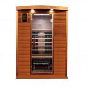 Dewello Infrarotkabine Sauna PIERSON PRO (Zeder) 135cm x 105cm