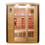 Dewello Infrarotkabine Sauna TORONTO 160cm x 110cm