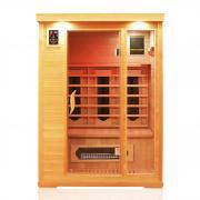 Dewello Infrarotkabine Sauna WINDSOR 130cm x 105cm