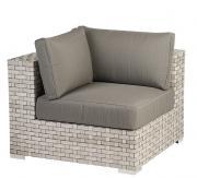 Diamond Garden Lounge Toulouse, Eckteil White Shell