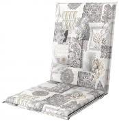 doppler Auflage Midi Sitzauflage Sitzkissen Living De Luxe 110x48x6cm Grau Muster