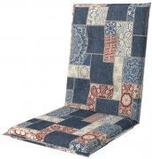 doppler Auflage Midi Sitzauflage Sitzkissen Living 110x48x6cm Blau gemustert