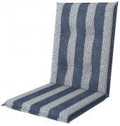 doppler Auflage Midi Sitzauflage Sitzkissen Living 110x48x6cm Blau-Grau gestreift
