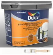 Dulux Fresh up Renovierfarbe für Fensterrahmen + Holzverkleidung satiniert Weiß 0,75 L