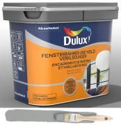 Dulux Fresh up Renovierfarbe für Fensterrahmen + Holzverkleidung satiniert Titanium 0,75 L