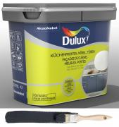 Dulux Fresh up Renovierfarbe für Küchen Möbel Türen satiniert Schwarz 0,75 L