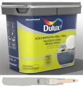 Dulux Fresh up Renovierfarbe für Küchen Möbel Türen glänzend Beton-Grau 0,75 L