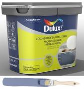 Dulux Fresh up Renovierfarbe für Küchen Möbel Türen satiniert Denim Blue 0,75 L