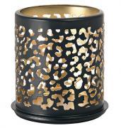Duni Safari Leopard Kerzenhalter für LED Mini Lamp schwarz Metall