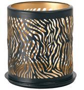 Duni Safari Zebra Kerzenhalter für LED Mini Lamp schwarz Metall