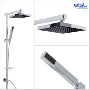 EISL Duschsäule Duschgarnitur SQUARE II (ohne Armatur) Edelstahl hochganzverchromt mit integriertem Umsteller