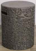 Elementi Abdeckung für Gasflaschen Naturstein-Optik dunkel Eco-Stone für 5 kg Gasbehälter