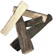 Elementi Brennholz aus Keramik Spaltholz Optik