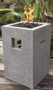Elementi Gas Feuerstelle Kelut in heller Natursteinoptik aus Faserbeton