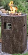 Elementi Gas Feuerstelle Tambora in Basaltoptik aus Faserbeton