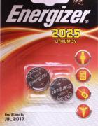 Energizer Lithium Knopfzelle CR 2025, 2er