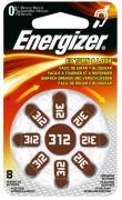 Energizer Turn&Lock Zink-Luft Hörgerätebatterien 312 8Stk.