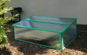 EPH Frühbeet Levana 1 mit Klappdeckel ca. 0,5 m² Ausführung Aqua