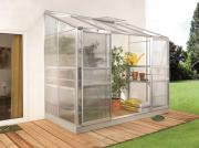 EPH Vitavia Anlehngewächshaus Ida 3300 3,3 m² HKP 4 mm Alu eloxiert