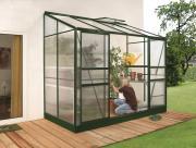 EPH Vitavia Anlehngewächshaus Ida 3300 3,3 m² HKP 4 mm Smaragd pulverbeschichtet