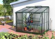 EPH Vitavia Anlehngewächshaus Ida 5200 5,2 m² HKP 4 mm Smaragd pulverbeschichtet
