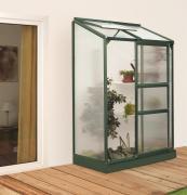 EPH Vitavia Anlehngewächshaus Ida 900 0,9 m² HKP 4 mm Smaragd pulverbeschichtet