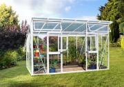 EPH Vitavia Gewächshaus Aphrodite 11500 Pflanzenhaus 11,5 m² weiß aluminium eloxiert
