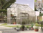 EPH Vitavia Gewächshaus Jupiter 6700 6,7 m² HKP 6mm aluminium eloxiert