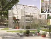EPH Vitavia Gewächshaus Jupiter 8300 8,3 m² HKP 4mm aluminium eloxiert