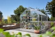 EPH Vitavia Gewächshaus Planet 5000 5 m² ESG 3mm aluminium eloxiert